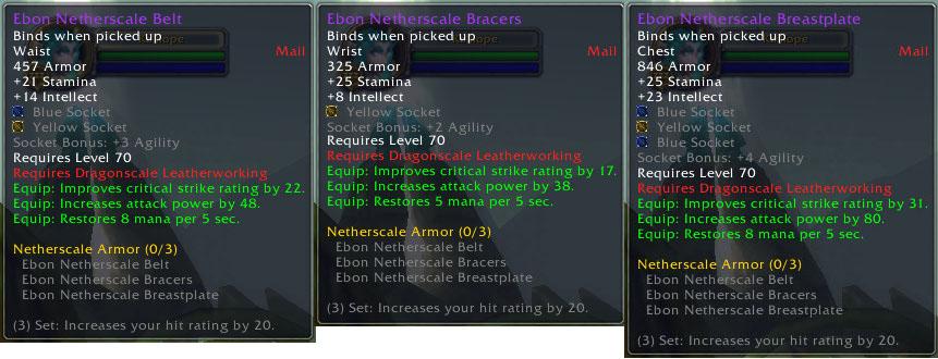 Ebon Netherscale Armor Set