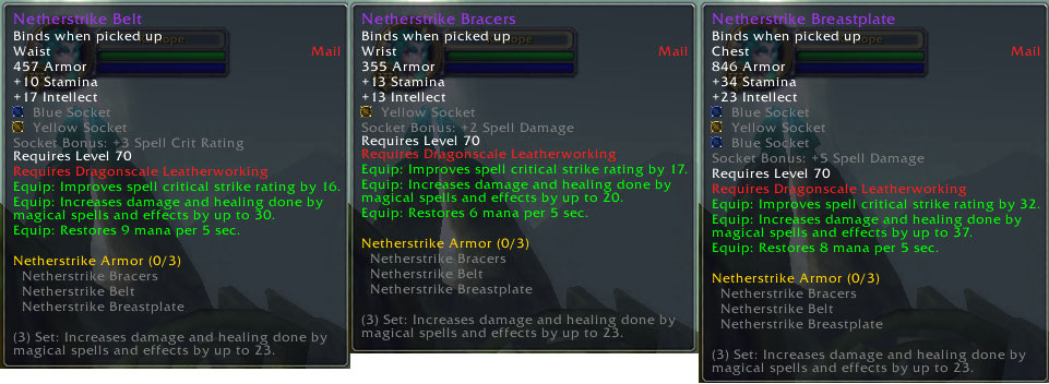Netherstrike Armor Set Upgrade