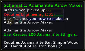Adamantite Arrow Maker, Patch 2.3