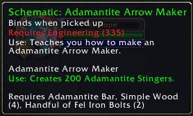 Adamantite Arrow Maker, Patch 2.3