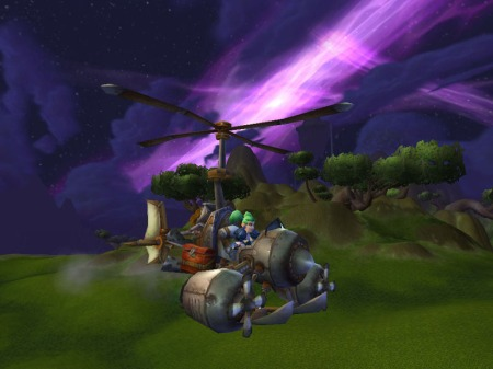 Engineering Flying Machine in Nagrand (WoW, Warcraft)