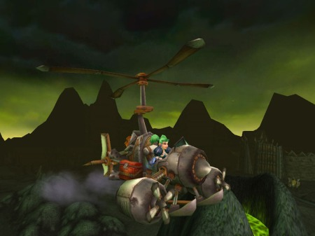 Engineering Flying Machine in Shadowmoon Valley (WoW, Warcraft)