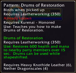 Drums of Restoration 2.3 Patch