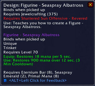 Seaspray Albatross Trinket - Jewelcrafting