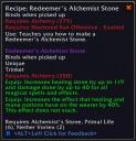 Redeemer's Alchemist Stone from 2.4 Patch
