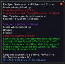 Sorcerer's Alchemist Stone from 2.4 Patch