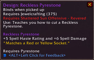 Reckless Pyrestone