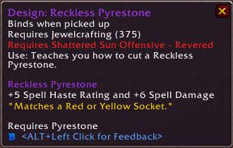 Reckless Pyrestone