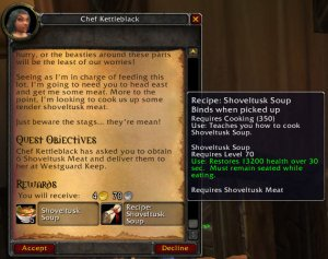 Quest for Cooking Shoveltusk Soup