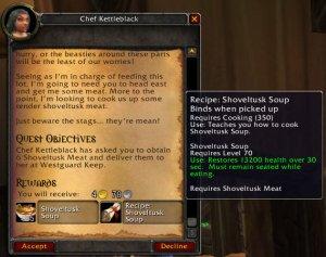 Quest for Cooking Shoveltusk Soup