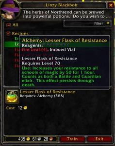 Alchemy Lesser Flask of Resistance