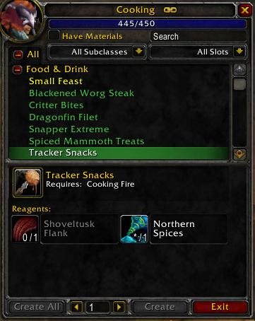 Cooking Skill Changes 3.0.8 PTR