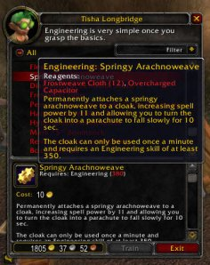 3.1 PTR Recipe for Engineers -> Springy Arachnoweave