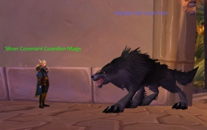 Giant Black Wolf