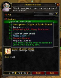 3.1 PTR Glyph of Earth Shield