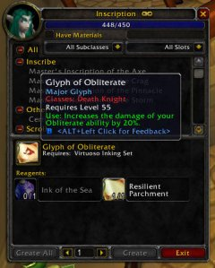 3.1 PTR Glyph of Obliterate