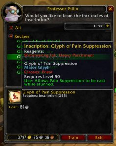 3.1 PTR Glyph of Pain Suppression