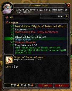 3.1 PTR Totem of Wrath