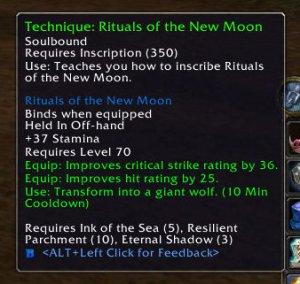 3.1 Inscription Recipe: Rituals of the New Moon