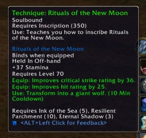 3.1 Inscription Recipe: Rituals of the New Moon