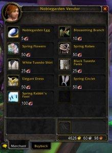 Noblegarden Vendor Goodies
