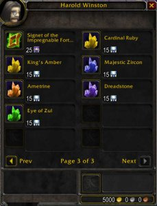 Epic Gem Vendor in Dalaran