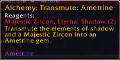 Transmute Epic Gem: Ametrine
