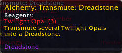 Transmute Epic Gem: Dreadstone (purple stone)