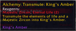 Transmute Epic Gem: King's Amber (yellow stone)