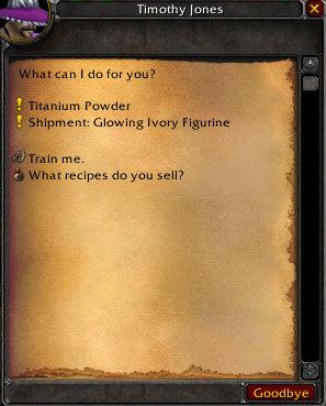 Jewelcrafting: Titanium Powder Quest